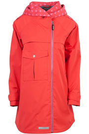 Waterproof Breathable Rain Coat with Front Pocket