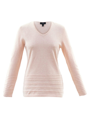 Long-Sleeved, V-Neck Sweater Navy or Pink