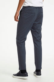 George-Paton Dust-Blue Check Suit