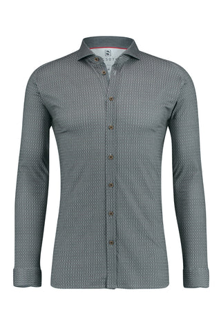 Short-Sleeved Knit Shirt Graphite Mosaic