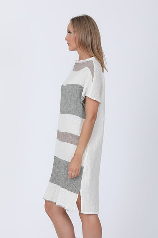 Hylda Stripe Crinkle Dress