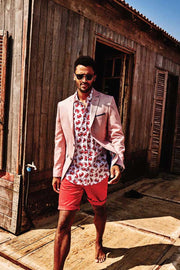 Summer Sport Coat Red Linen