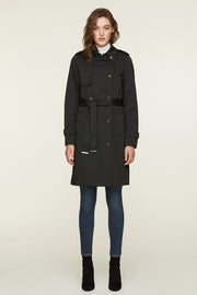 Brigitta Water-Repellent Double-Breasted Trench Coat
