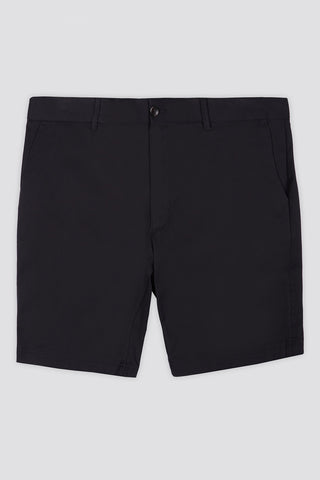 Stretch Cotton Chino Short in Black