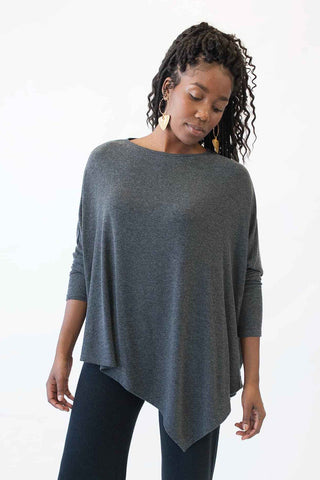 Asymetrical V-Neck Top Four Colours