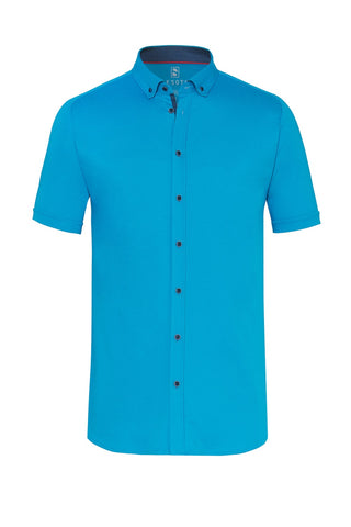 Short-Sleeved Knit Shirt Three Colours