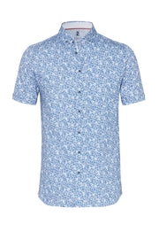 Short-Sleeved Print Knit Shirt Two Colours