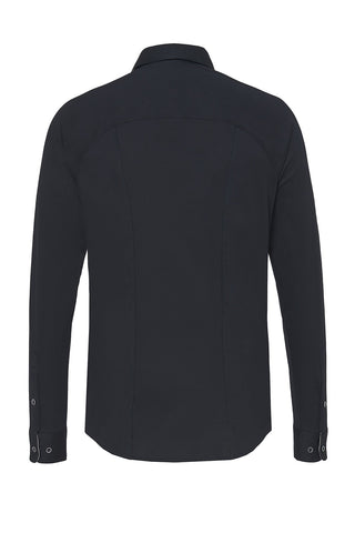 Never-Out Long-Sleeved Knit Shirt Black or White