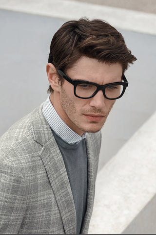 Muted-Plaid Sport Coat Pale Grey