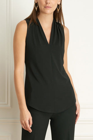 Sleeveless, Crepe-Jersey Tank Four Colours