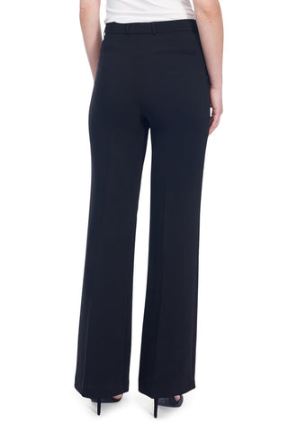 Wide-Leg Luxe Fabric Pant Black