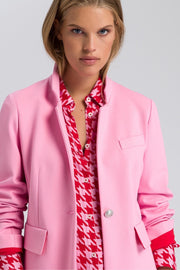 Double-Knit Stretch Blazer Pink