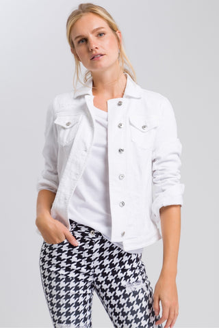 Contemporary Jean Jacket White