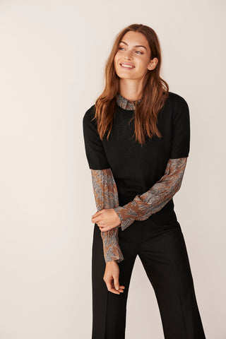 Everlotte Short-Sleeved Sweater Black