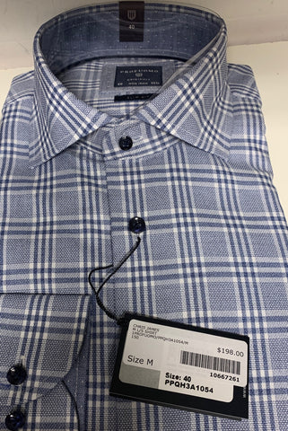 Long-Sleeved Shirt Blue Check