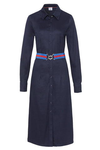 Kate Cotton-Jersey Duster Dress Navy