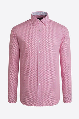 Long-Sleeved Casual Shirt Berry Basket Weave