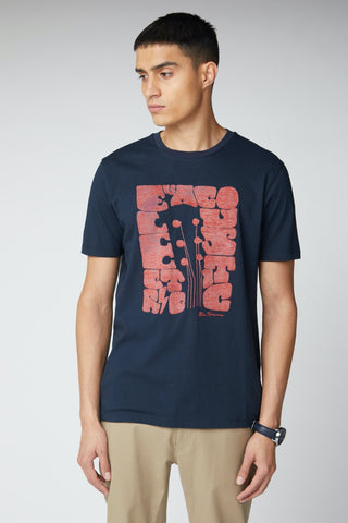 Guitar Head T-Shirt Dark Navy