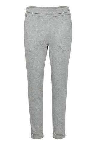 Renefa Knit Pant Light-Grey Mélange
