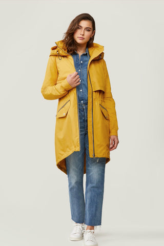 Desirée Knee-Length Water-Repellent Jacket