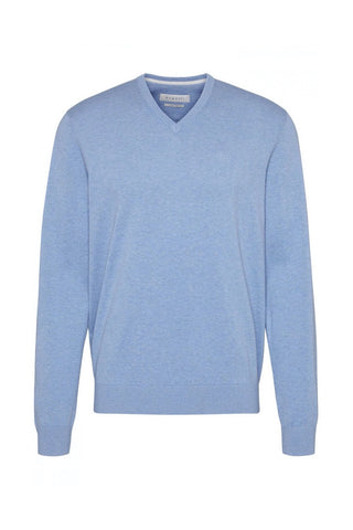 V-Neck Cotton Sweater Four Colours
