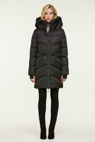 Wendelle Water-Repellent, Straight-Fit Sporty Down Coat