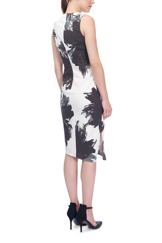Floral-Print Cotton Dress Ivory
