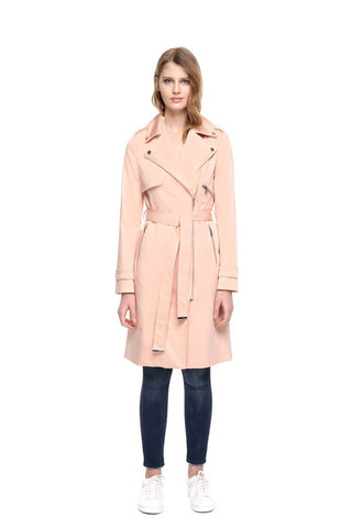 Athena Knee-Length Trench Coat with Belt