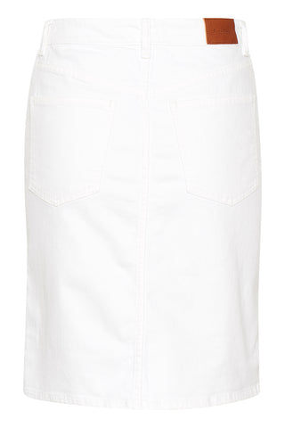 Riona Short Jean Skirt in White