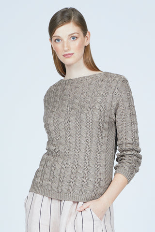Cable-Knit Sweater Two Colours