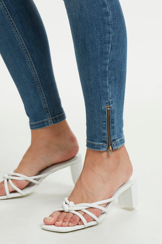 Celina Jean with Zippered Hem Distressed