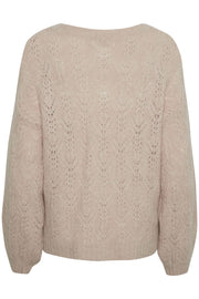 Chasmina V-Neck Sweater Desert Rose Mélange