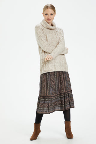 Oversized Cowl-Neck Sweater Chateau Grey Mélange