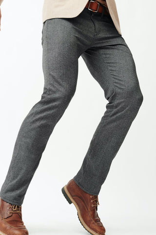 Courage Straight-Leg Pant Grey Feather Tweed