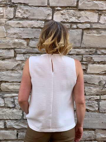 Sleeveless Top with Neck Closure