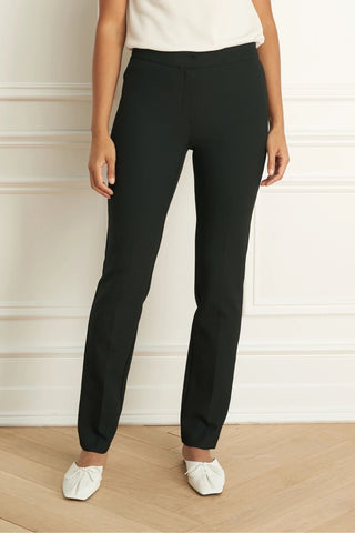 Colette Cigarette-Leg Dress Pants Black