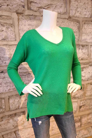 Miss Darcey I V-Neck Cashmere Sweater Green