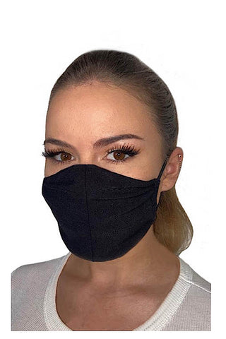 Bamboo-Jersey Face Mask Black