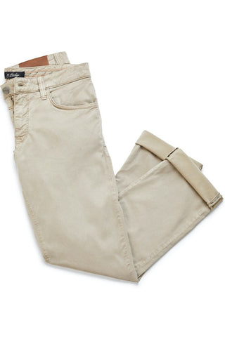 Courage Straight-Leg Jeans Mushroom Twill