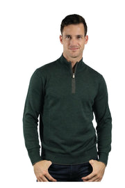 The Palmer Quarter-Zip Mock-Neck Merino Sweater Four Colours