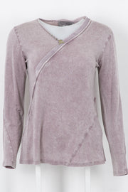 Long-Sleeved Jersey Top Lavender Blush