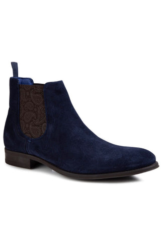 The Travics Chelsea Boot Blue Suede