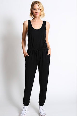 "Wyn ""Love Everybody"" Jumpsuit Black Sand"