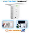 SocketStacker™ 8 Device Wall Outlet Shelf & Surge Protector Charging Station  -  (50% OFF)