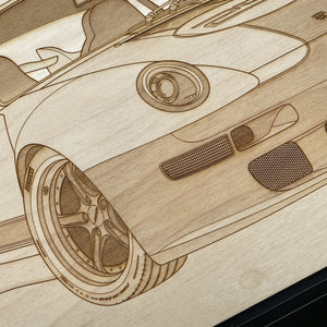 Gunther Werks 400R Gulf Framed Wood Engraved Artwork - Lugcraft