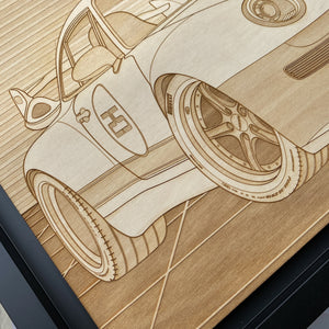 Gunther Werks 400R Gulf Scenic Framed Wood Engraved Artwork - Lugcraft