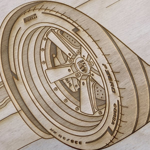 Gunther Werks GW-993 Framed Wood Engraved Artwork