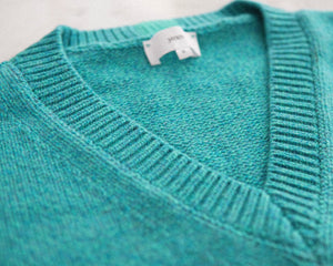 Janes - V-Neck Sweater Blue Mouliné