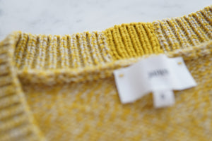 Janes - V-Neck Sweater Yellow Mouliné