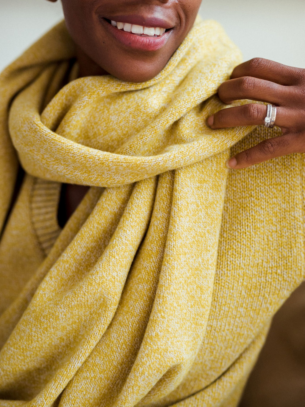 Janes - Maxi-scarf Yellow Mouliné